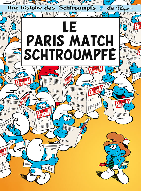 I Like Belgium : Le paris match schtroumpfé